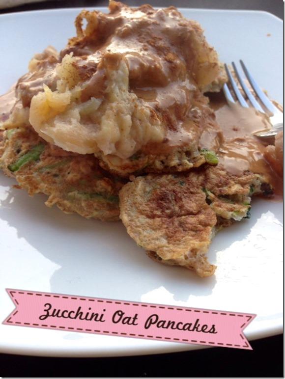 zucchini oat pancakes